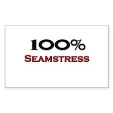 100 Percent Seamstress Rectangle Decal