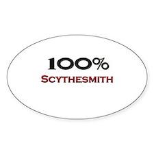 100 Percent Scythesmith Oval Decal