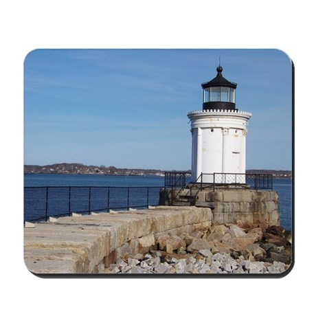 Scenic Bug Lighthouse on Main Mousepad