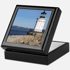 Scenic Bug Lighthouse on Main Keepsake Box