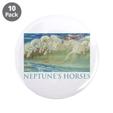 "NEPTUNE'S HORSES 3.5"" Button (10 pack)"