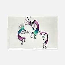 Three Kokopelli #107 Rectangle Magnet (10 pack)