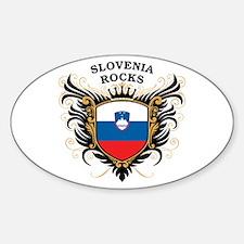 Slovenia Rocks Oval Decal