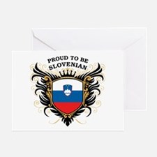 Proud to be Slovenian Greeting Card