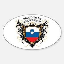 Proud to be Slovenian Oval Decal