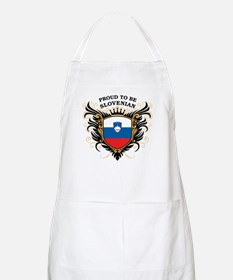 Proud to be Slovenian BBQ Apron