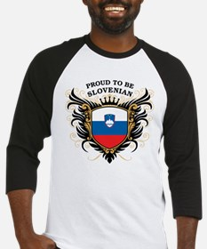 Proud to be Slovenian Baseball Jersey