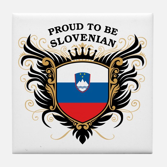 Proud to be Slovenian Tile Coaster