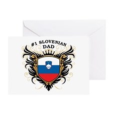 Number One Slovenian Dad Greeting Card