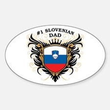 Number One Slovenian Dad Oval Decal