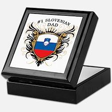 Number One Slovenian Dad Keepsake Box
