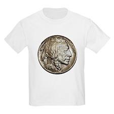 Classic Nickel Indian w/ Buffalo Kids Lt T-Shirt