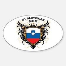 Number One Slovenian Mom Oval Decal