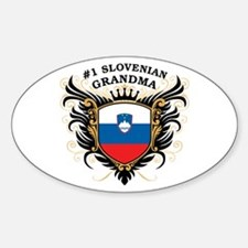 Number One Slovenian Grandma Oval Decal