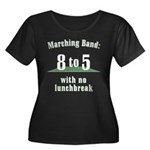 Marching 8to5 Plus Size Scoop Neck Dark T-Shirt