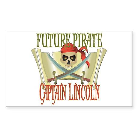 Captain Lincoln Rectangle Sticker