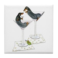 Martini Weenies Tile Coaster