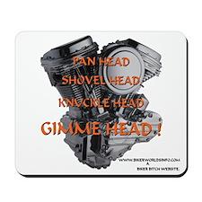 Pan Head Shovel Head Knukle Head Gimme Head Pad.