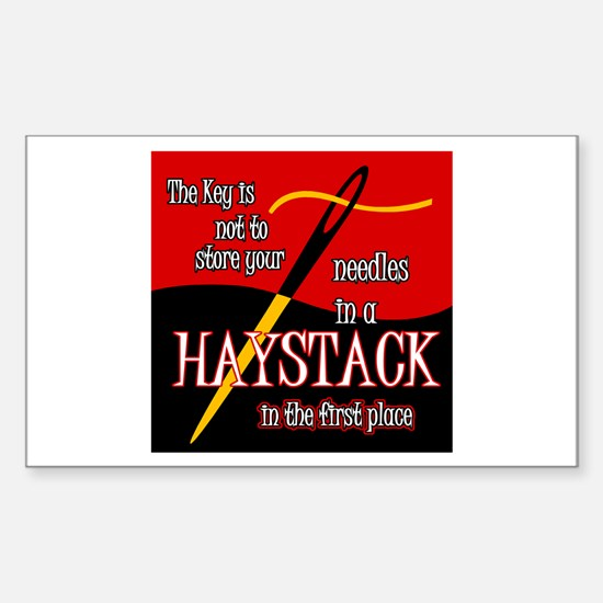 Needle in a haystack Rectangle Decal