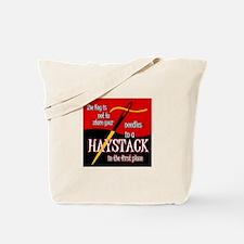 Needle in a haystack Tote Bag