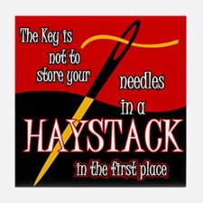 Needle in a haystack Tile Coaster