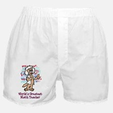 World's Greatest Math Teacher Boxer Shorts