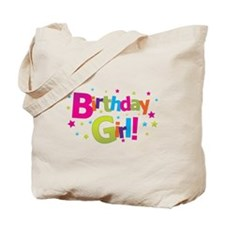 birthday girl coloful Tote Bag
