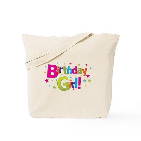 birthday girl coloful Tote Bag