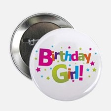"birthday girl coloful 2.25"" Button"