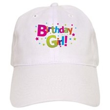 birthday girl coloful Baseball Cap