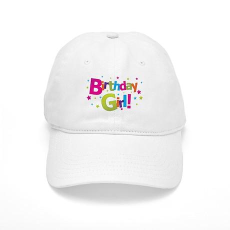 birthday girl coloful Cap