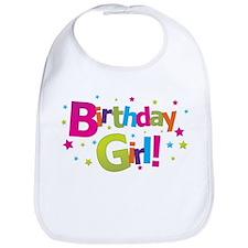 birthday girl coloful Bib