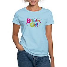 birthday girl coloful T-Shirt
