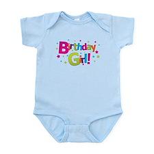 birthday girl coloful Infant Bodysuit