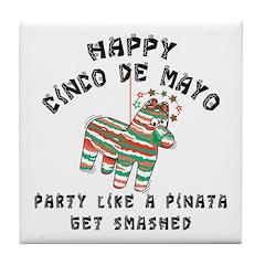 Funny Cinco de Mayo Tile Coaster