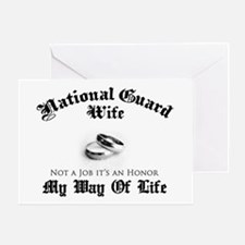 USNG Wife: It's an Honor Greeting Card