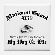 USNG Wife: It's an Honor Tile Coaster