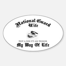 USNG Wife: It's an Honor Oval Decal