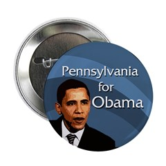 Pennsylvania for Barack Obama Button