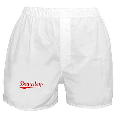Vintage Braydon (Red) Boxer Shorts