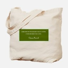 """CHINESE PROVERB"" BIRDER BAG"