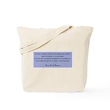 THOREAU QUOTATION BIRDER BAG