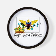 Virgin Island Princess Wall Clock