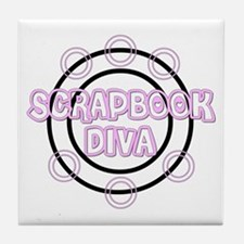 Scrapbook Diva Tile Coaster