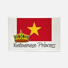 Vietnamese Princess Rectangle Magnet