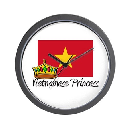 Vietnamese Princess Wall Clock