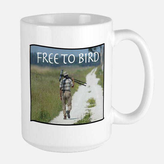 "Large ""FREE TO BIRD"" Birder Mug"