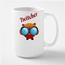 """Large """"TWITCHER"""" Birder Mug"""