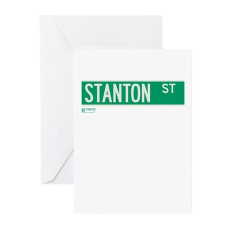 Stanton Street in NY Greeting Cards (Pk of 10)
