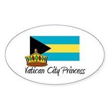 Vatican City Princess Oval Decal